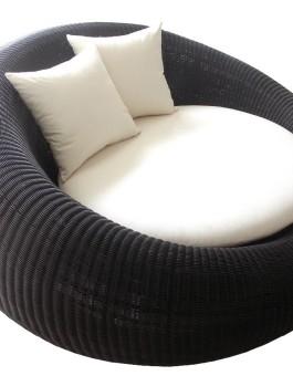 Sofa rotan sintetis donat