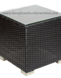 Furniture rotan minimalis meja teras rotan