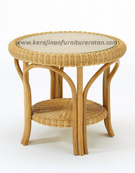 Meja teras mini rotan furniture rotan minimalis