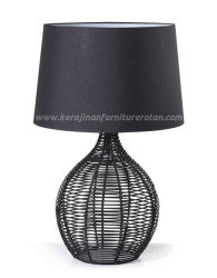 Lampu hias furniture rotan minimalis