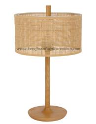 Lampu meja rotan minimalis kayu furniture rotan minimalis modern