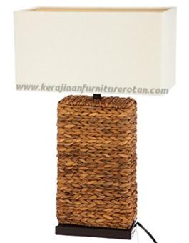 Lampu meja rotan minimalis furniture anyaman rotan modern