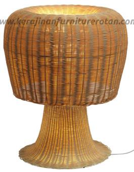 Lampu meja rotan furniture rotan minimalis modern