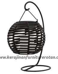 Lampu meja rotan modern furniture alumunium minimalis