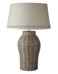 Lampu meja rotan minimalis furniture rotan terbaik