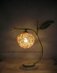 Lampu meja rotan tropis furniture rotan minimalis