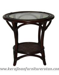 Furniture rotan klasik meja teras rotan klasik