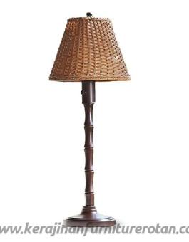 Lampu hias rotan klasik furniture rotan minimalis jepara