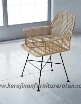 Kursi rotan besi minimalis furniture rotan export modern