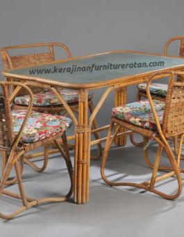 Set meja makan rotan klasik export furniture rotan klasik