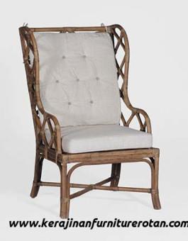 Kursi santai rotan panjang furniture rotan export minimalis terbaru
