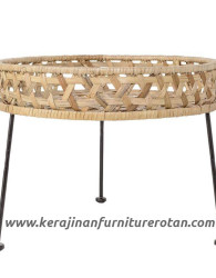 Meja hias rotan export furniture rotan minimalis