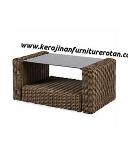 Meja tamu rotan export serbaguna furniture rotan minimalis