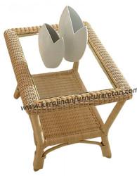 Meja teras rotan export furniture rotan minimalis serbaguna 2018