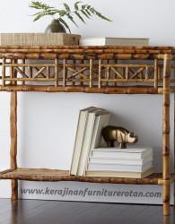Meja konsul rotan export jepara furniture rotan minimalis