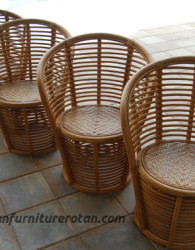 Kursi rotan retro export furniture rotan rustic