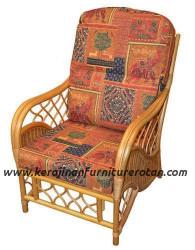 Kursi santai rotan export furniture rotan klasik
