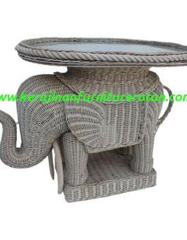Meja rotan vintage gajah furniture rotan export