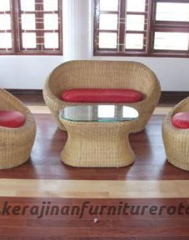 Kursi rotan klasik murah export furniture rotan retro