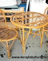 Set meja kursi tamu rotan vintage export furniture rotan minimalis