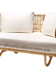 Sofa rotan elegan modern export furniture rotan minimalis putih