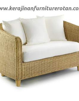 Sofa rotan modern export furniture rotan minimalis putih