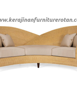Sofa rotan minimalis 3 seater export furniture rotan modern
