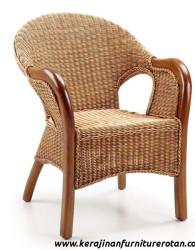 Kursi tamu rotan antik export furniture rotan klasik brown