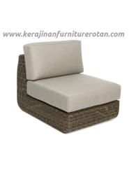 Sofa rotan modern export furniture rotan minimalis grey