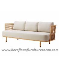 Furniture rotan export sofa rotan retro klasik putih