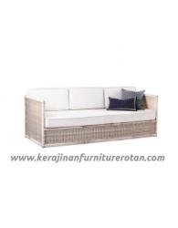 Furniture rotan minimalis export sofa rotan santai putih