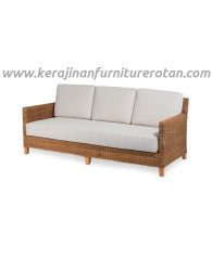 Sofa rotan elegan export furniture rotan modern putih