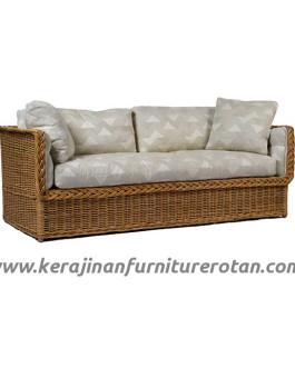 Sofa rotan minimalis export furniture rotan polkadot modern