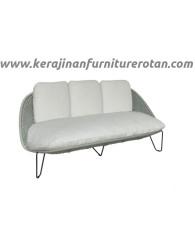 Sofa rotan minimalis export furniture rotan putih modern minimalis
