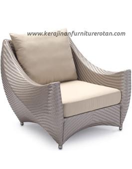 Sofa rotan modern export furniture rotan minimalis futuristik