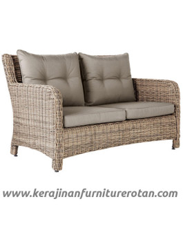 Furniture rotan export kursi rotan minimalis coklat santai modern