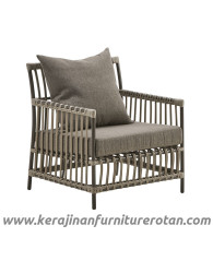 Furniture rotan export sofa rotan minimalis outdoor black