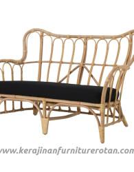 Sofa rattan black export