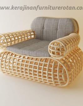 Sofa rotan busa jepara export modern